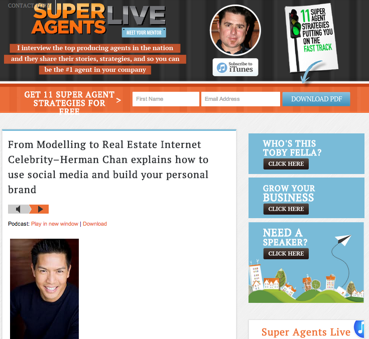 herman chan super agents live real estate internet celebrity