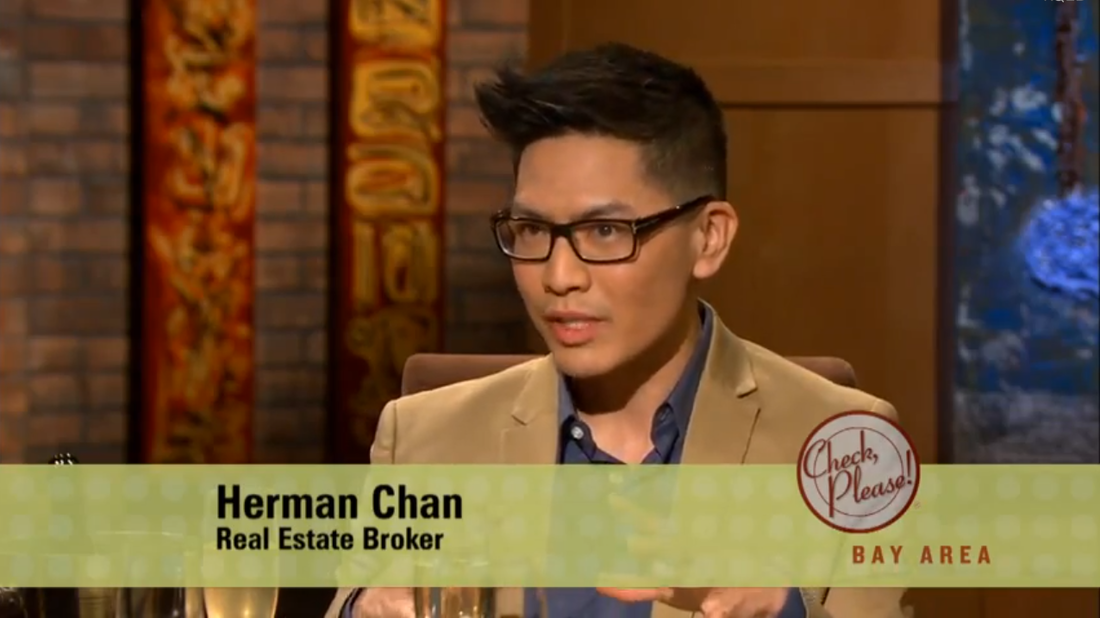 Herman Chan Real Estate Broker on San Francisco Check Please TV SHow for PBS