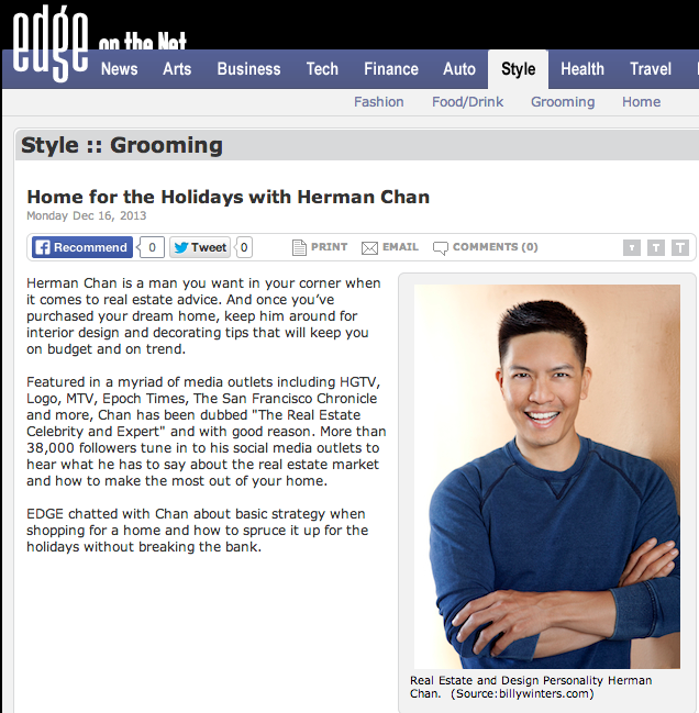 Herman Chan Real Estate Agent San Francisco LGBT Realtor Edge Magazine